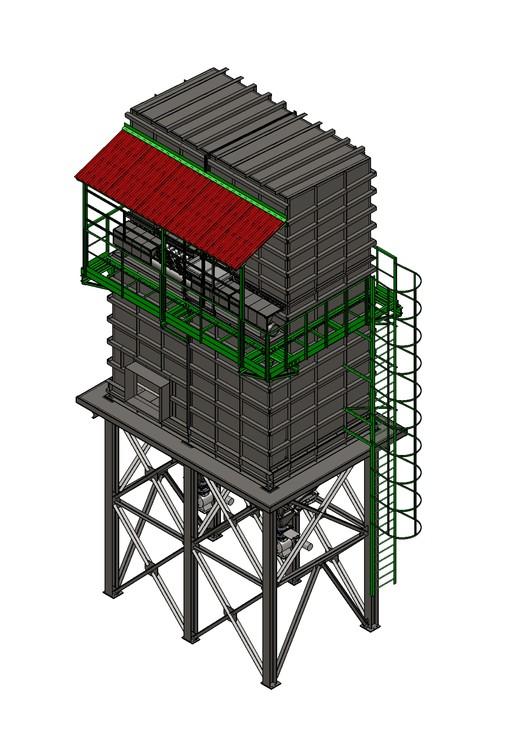 Изготовление эффективного рукавного фильтра новой конструкции ФРИР-550 для ОП «Сахарный завод»  ООО «Агрокомплекс «Зеленая долина»